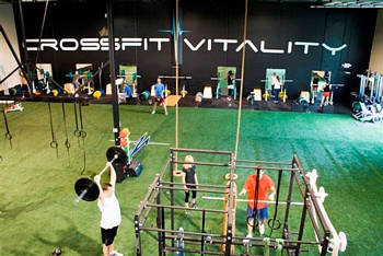 Crossfit gym with AthEdge Homefield Turf